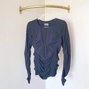 Athleta Ruched Stretch Long Sleeve T-shirt Top